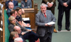 The SNP's Westminster leader Ian Blackford speaks during Prime Minister's Questions in the House of Commons, London.