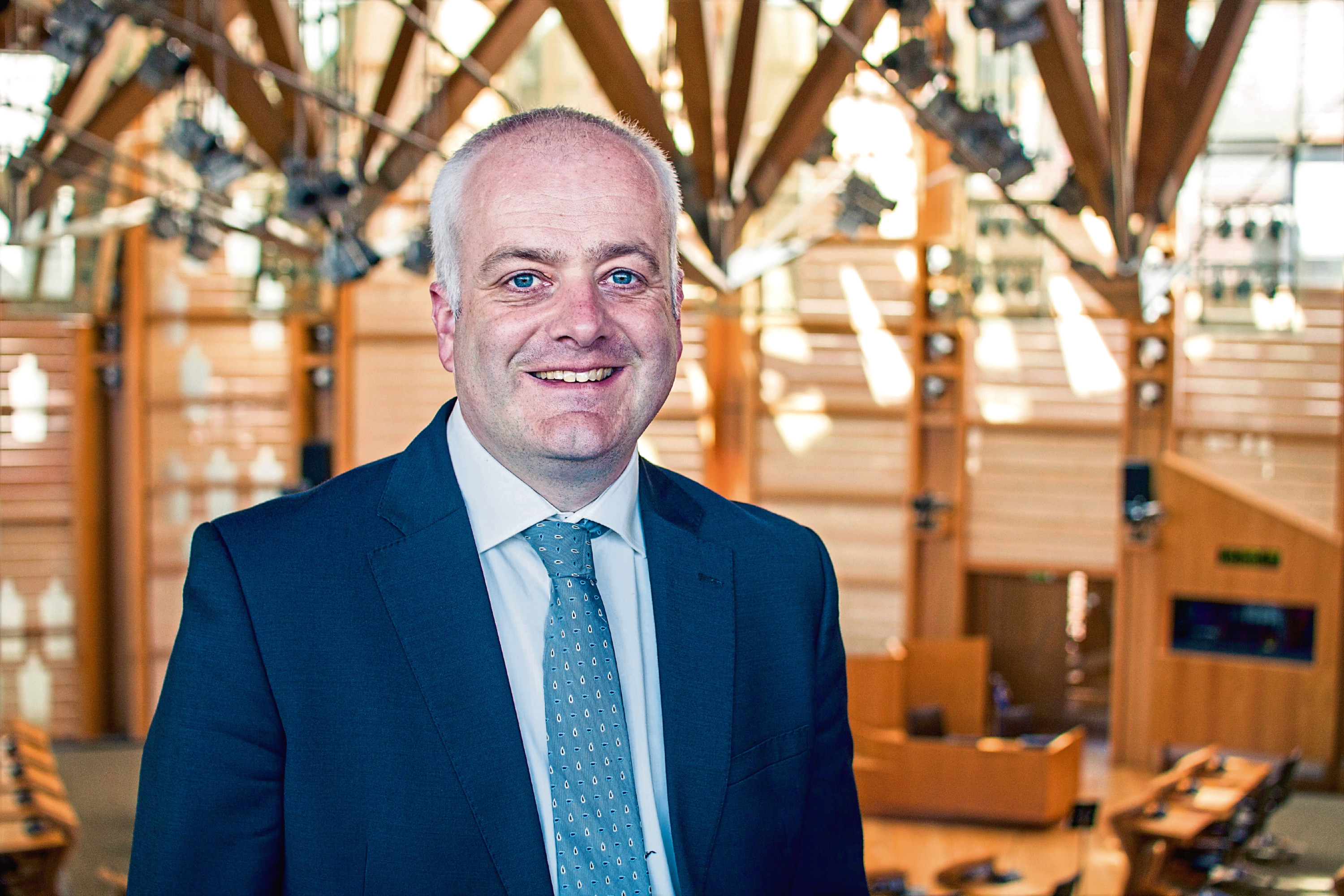 Mark Ruskell, Green MSP for Mid Scotland and Fife, at the Scottish Parliament