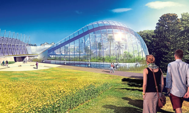 The glasshouse design for Royal Botanic Gardens by Nicoll Russell Studios of Broughty Ferry.