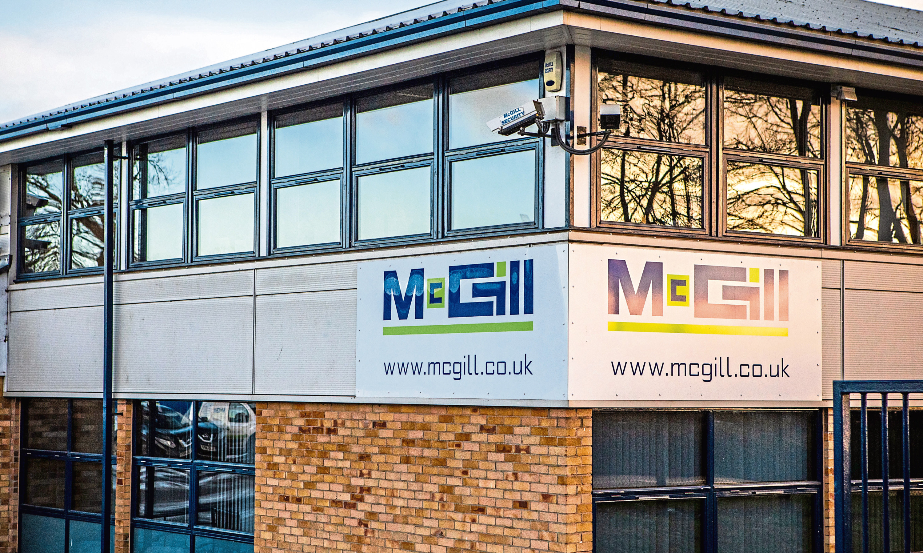McGill premises in Harrison Road, Dundee.