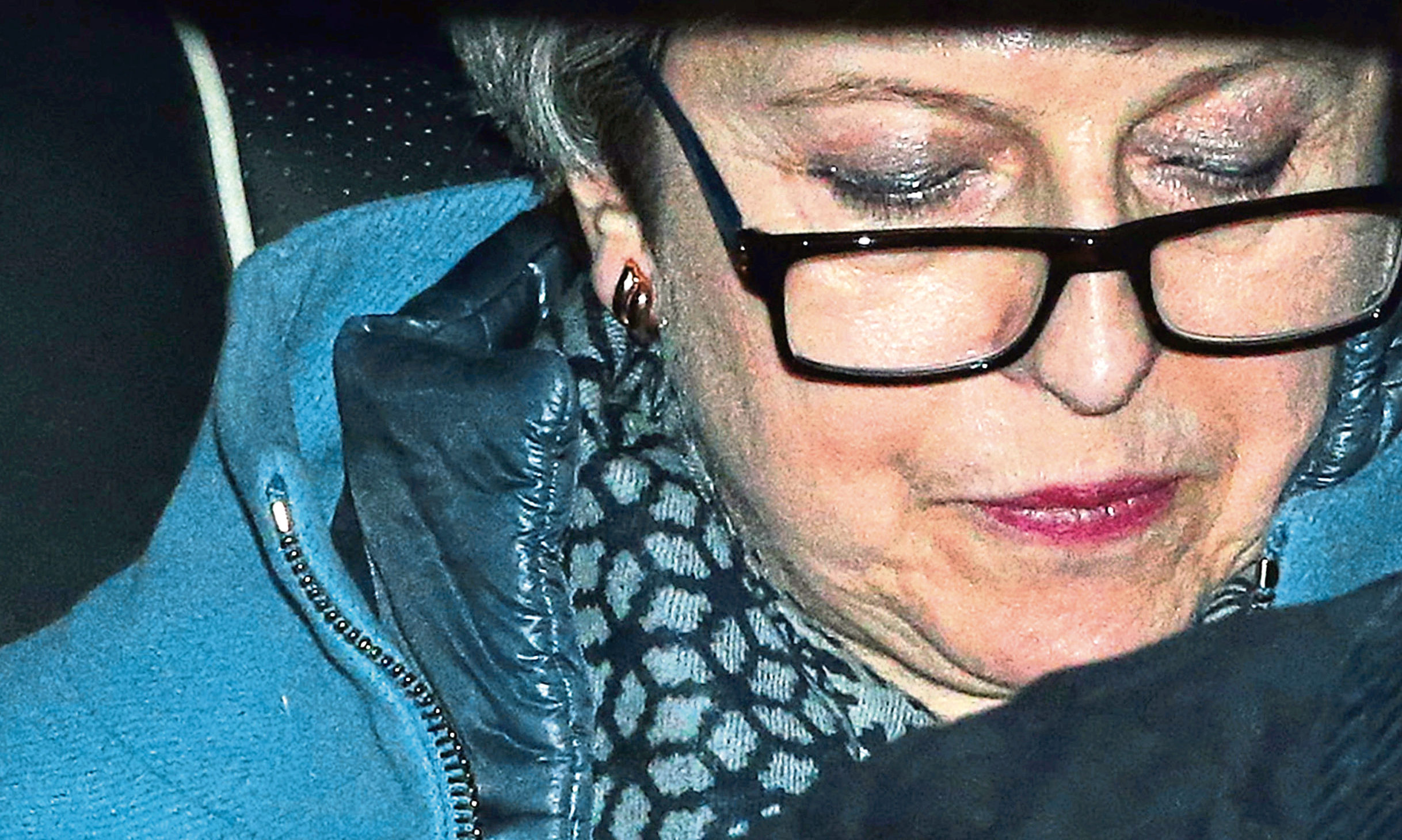 British Prime Minister Theresa May arrives at Parliament.