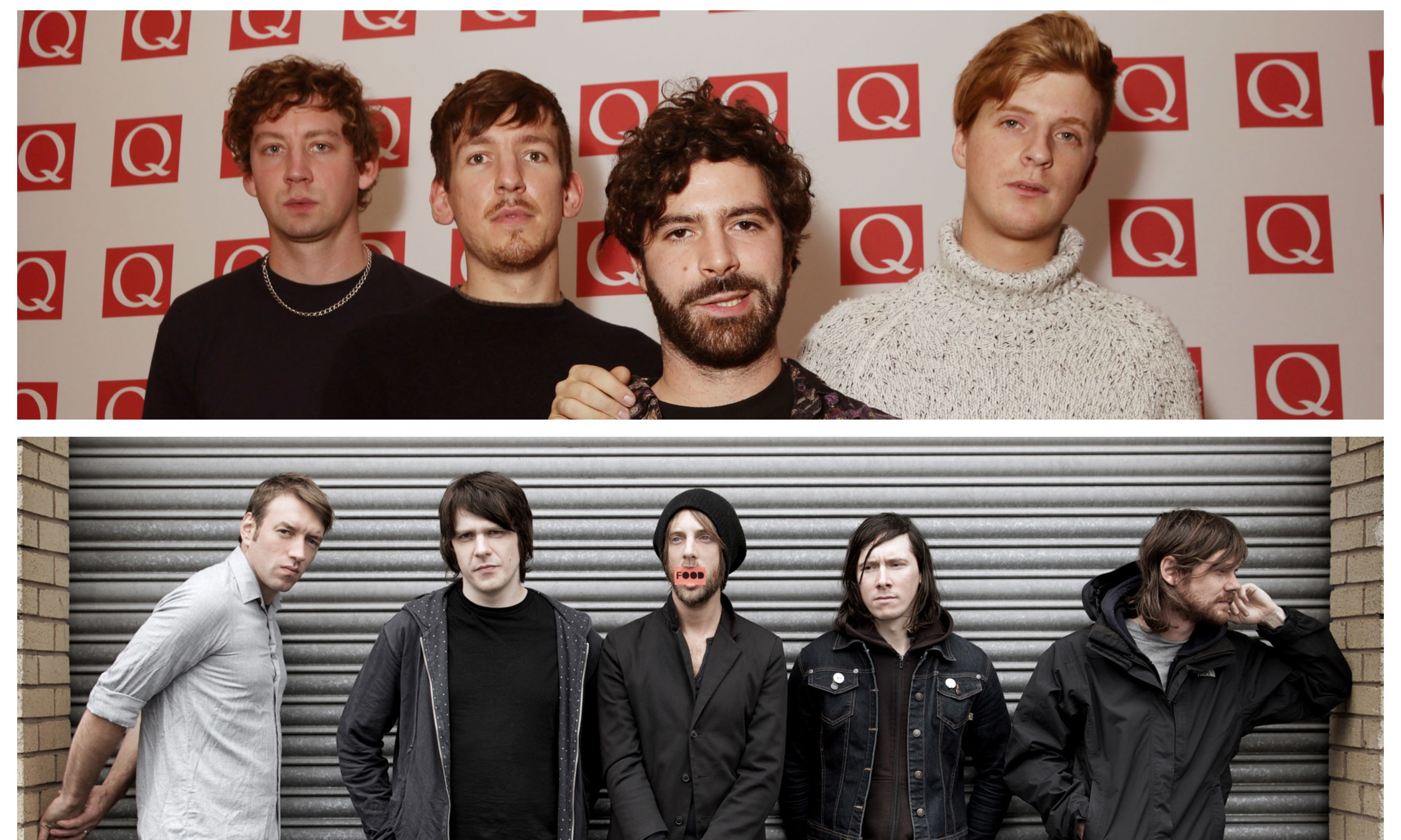 Foals (top) and Idlewild (bottom).