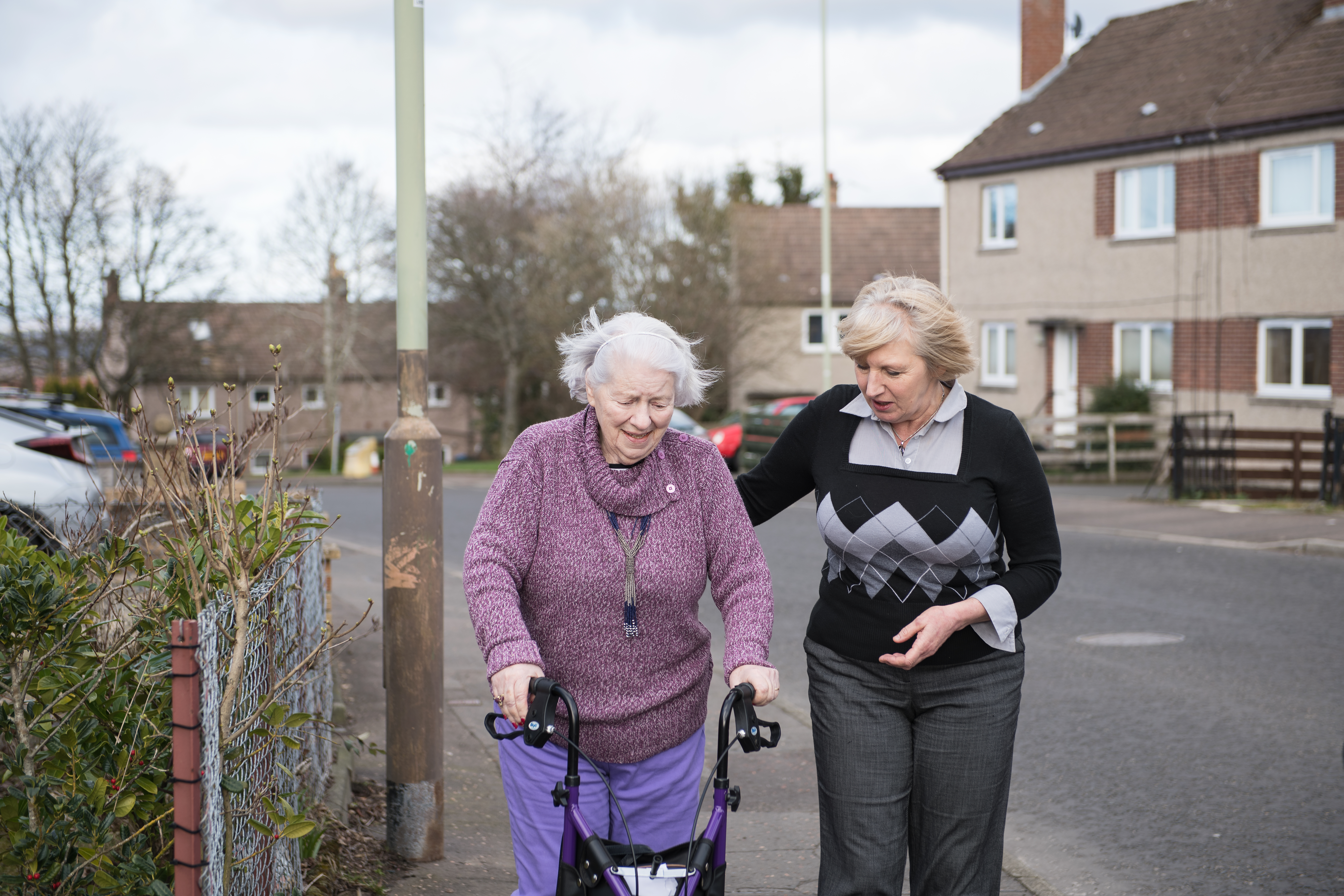 Stroke survive Irene Smeaton with Hazel from the Holistic Rehabilitation Support Service