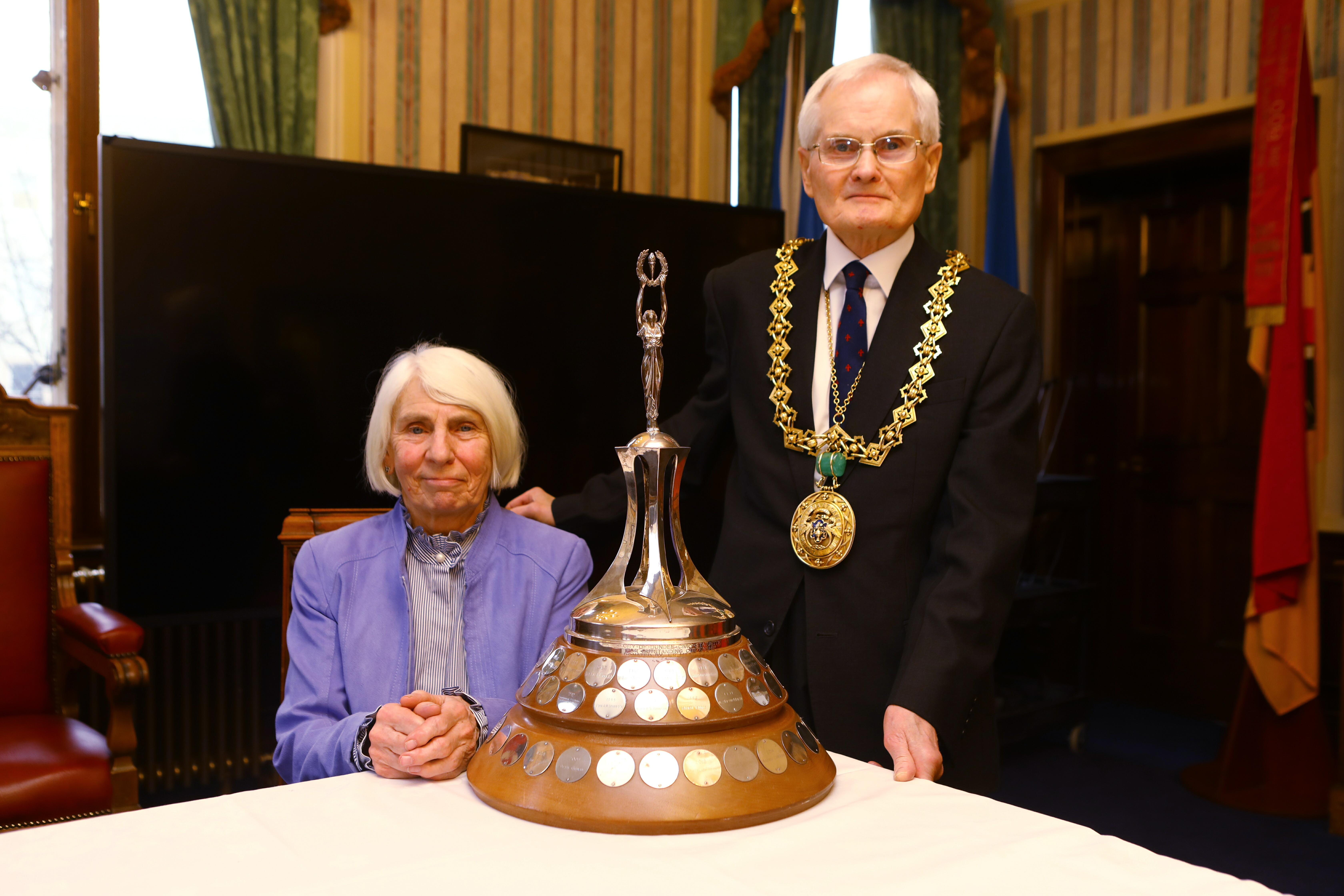 Norma alongside Lord Provost Ian Borthwick