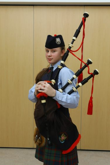 Winner of three classes, Bagpipes (March) Under 15, Bagpipes (Strathspey & Reel) Under 15 and Bagpipes (Jig) Under 15, Katie Duthie.