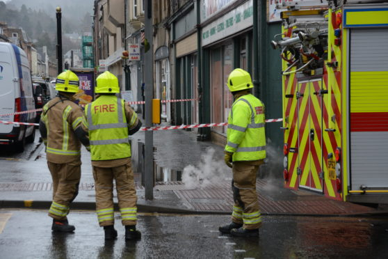 """Crews attended the """"underground fire"""" in Perth."""