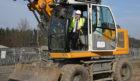 Councillor Craik gets work started