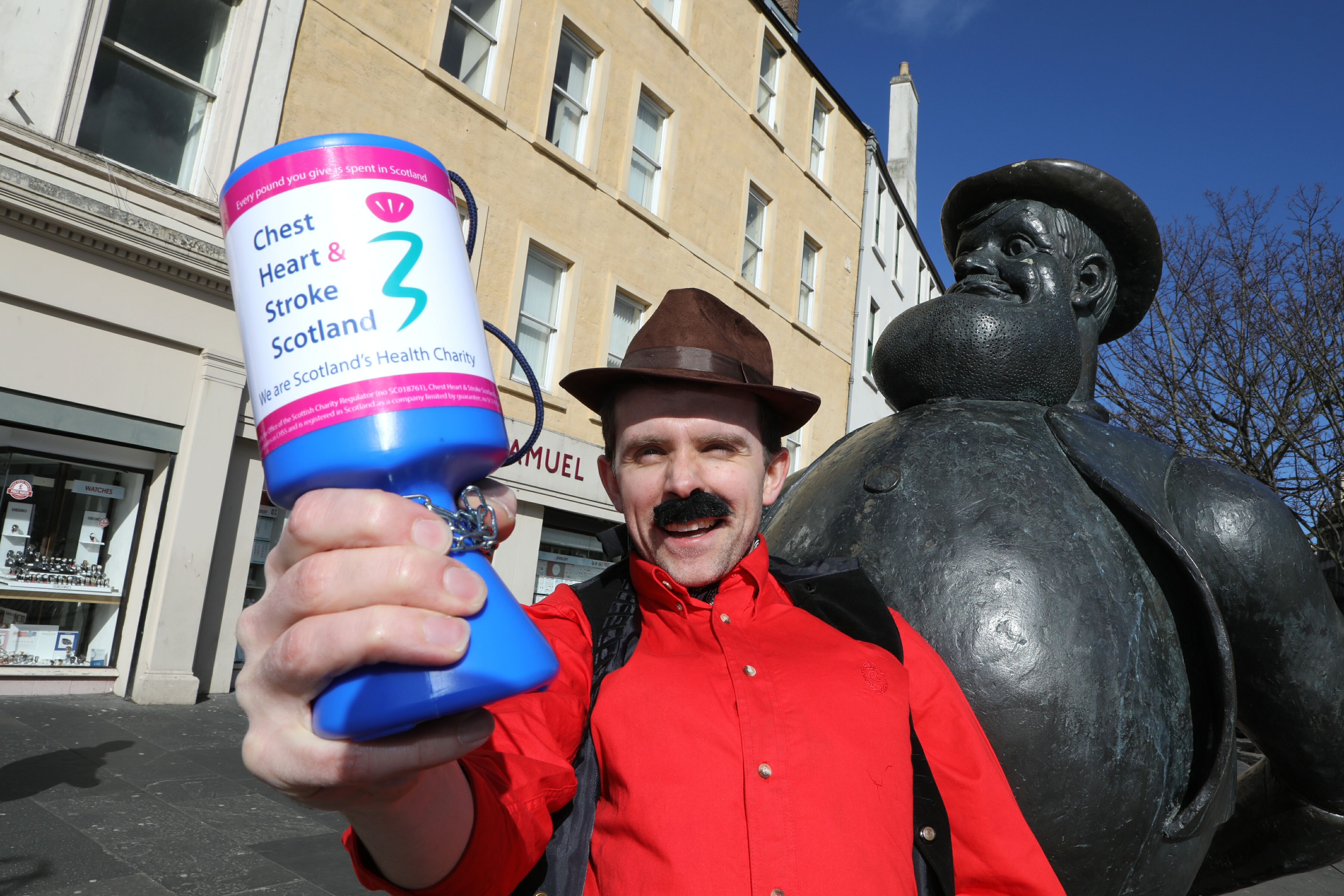 Lawrence Cowan, director of communications for Chest Heart & Stroke Scotland helps raise £30,000