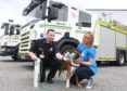 "Boxer Welfare Scotland  recently donated 12 ""Smokey Paws"" kits to the Scottish Fire and Rescue Service in the north east of Scotland"