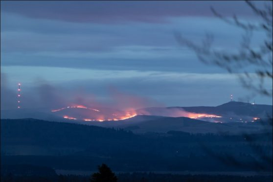 The blaze could be seen for miles