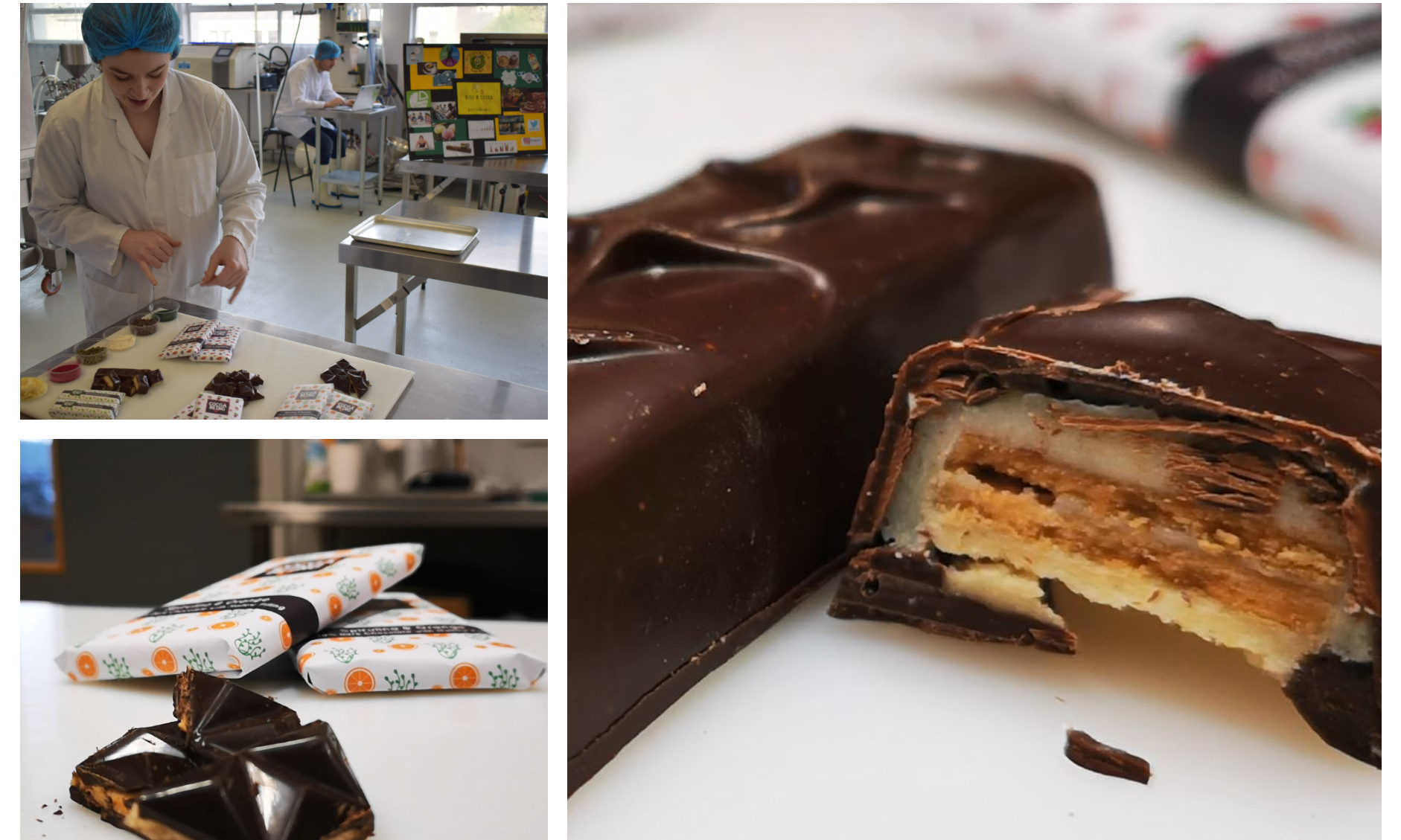 The healthy chocolate bars have been created by Abertay University students.