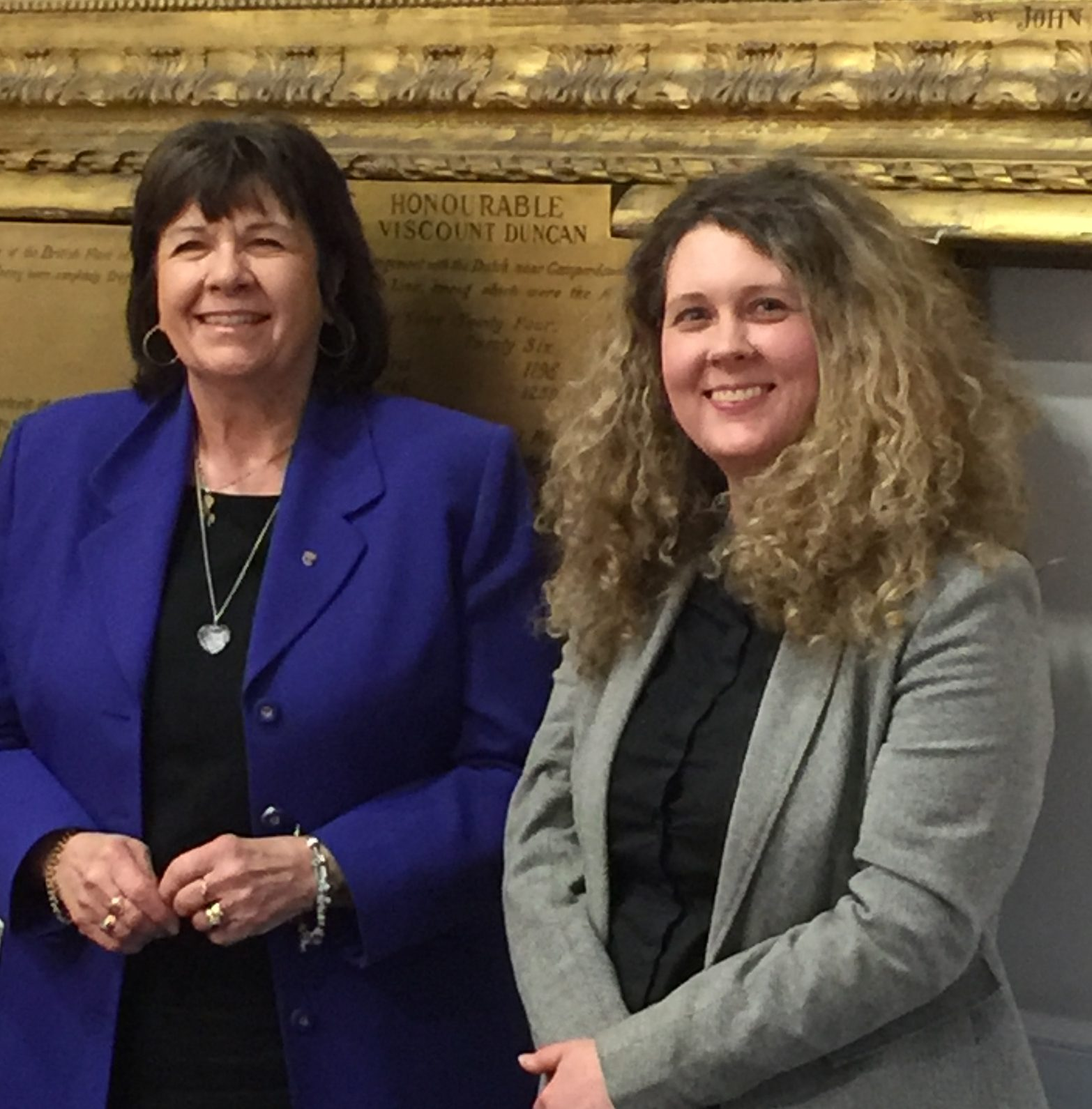 Amanda Kopel and Councillor Lois Speed