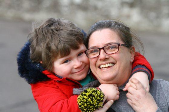 Carson and mum Lynne