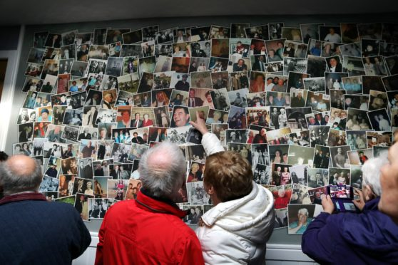 The memory wall was a popular attraction at the official opening.