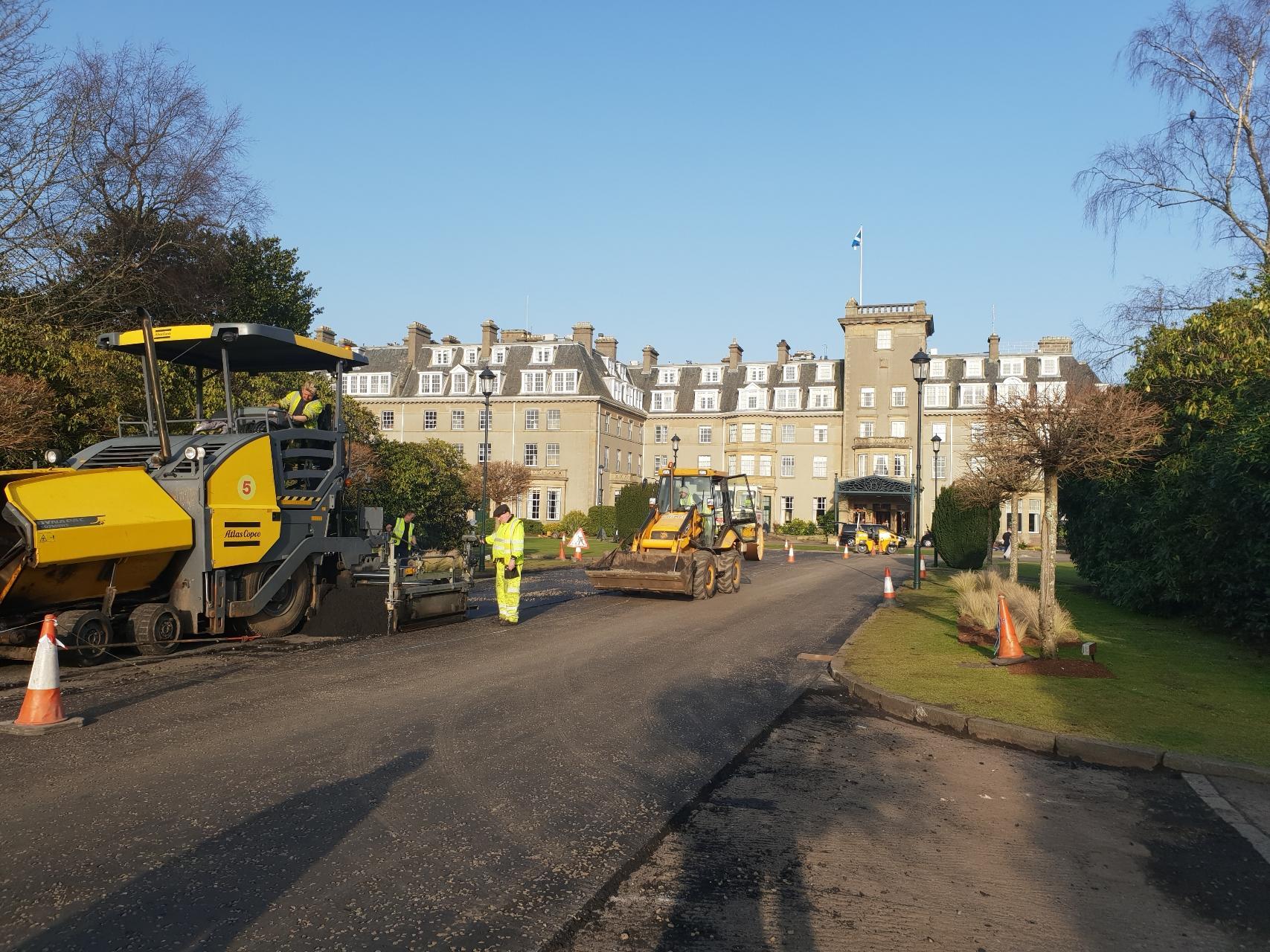 New non-recyclable plastic road at Gleneagles