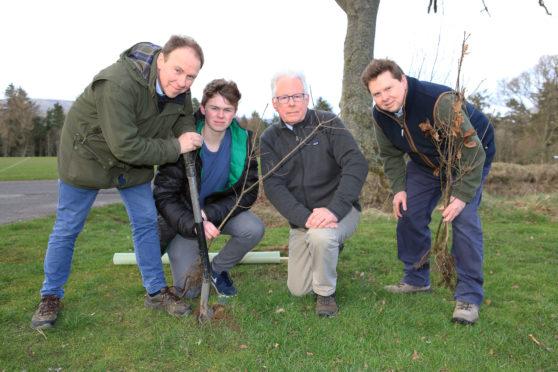 From left: Hamish Spencer -Nairn, Rory Spencer-Nairn,Warden Hugh Ouston, Jamie Spencer.