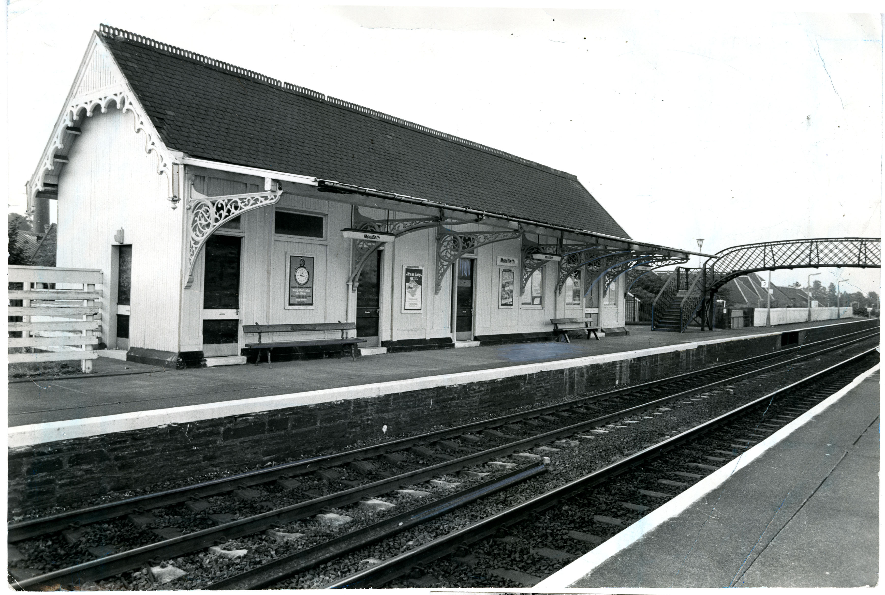 The station at Monifieth pictured in 1984