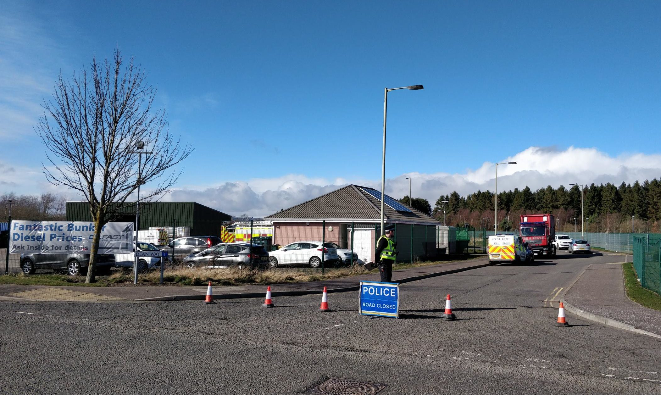 The scene of the incident in Forfar.