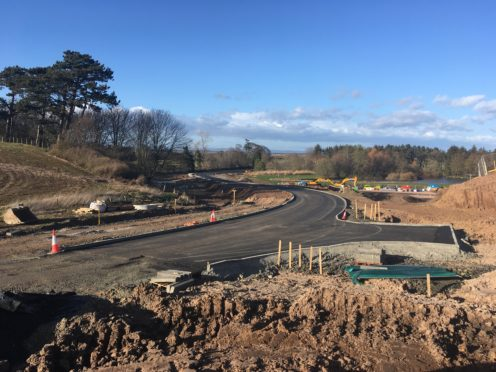 Construction work has started on the access roads.