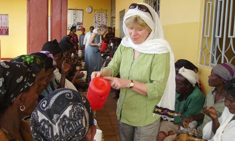 Jo Middlemiss at the clinic in Ethiopia