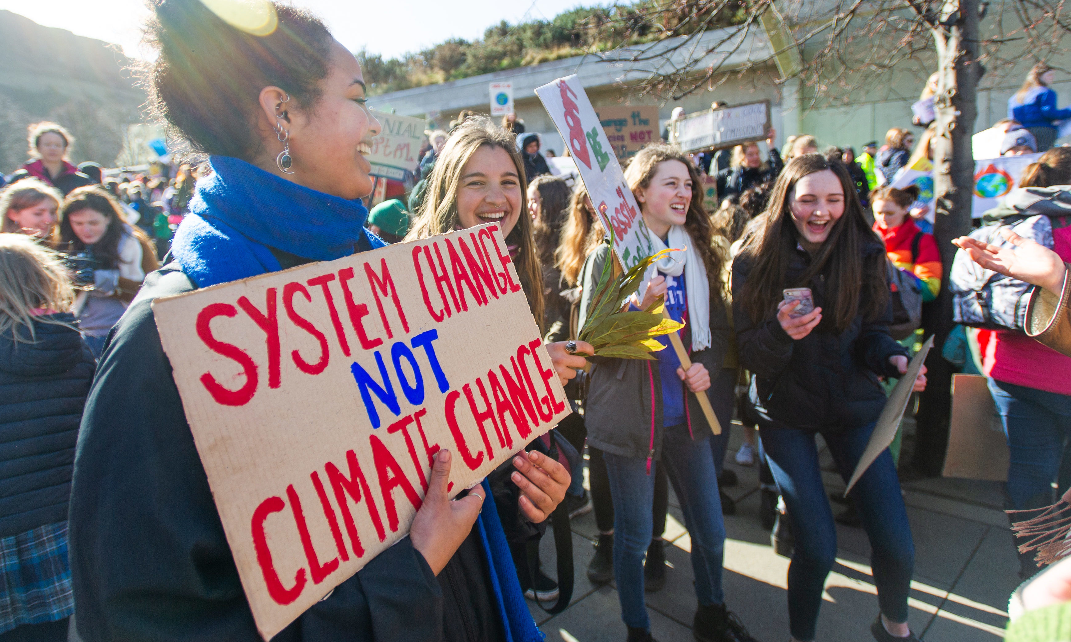 Young people have been protesting against climate change