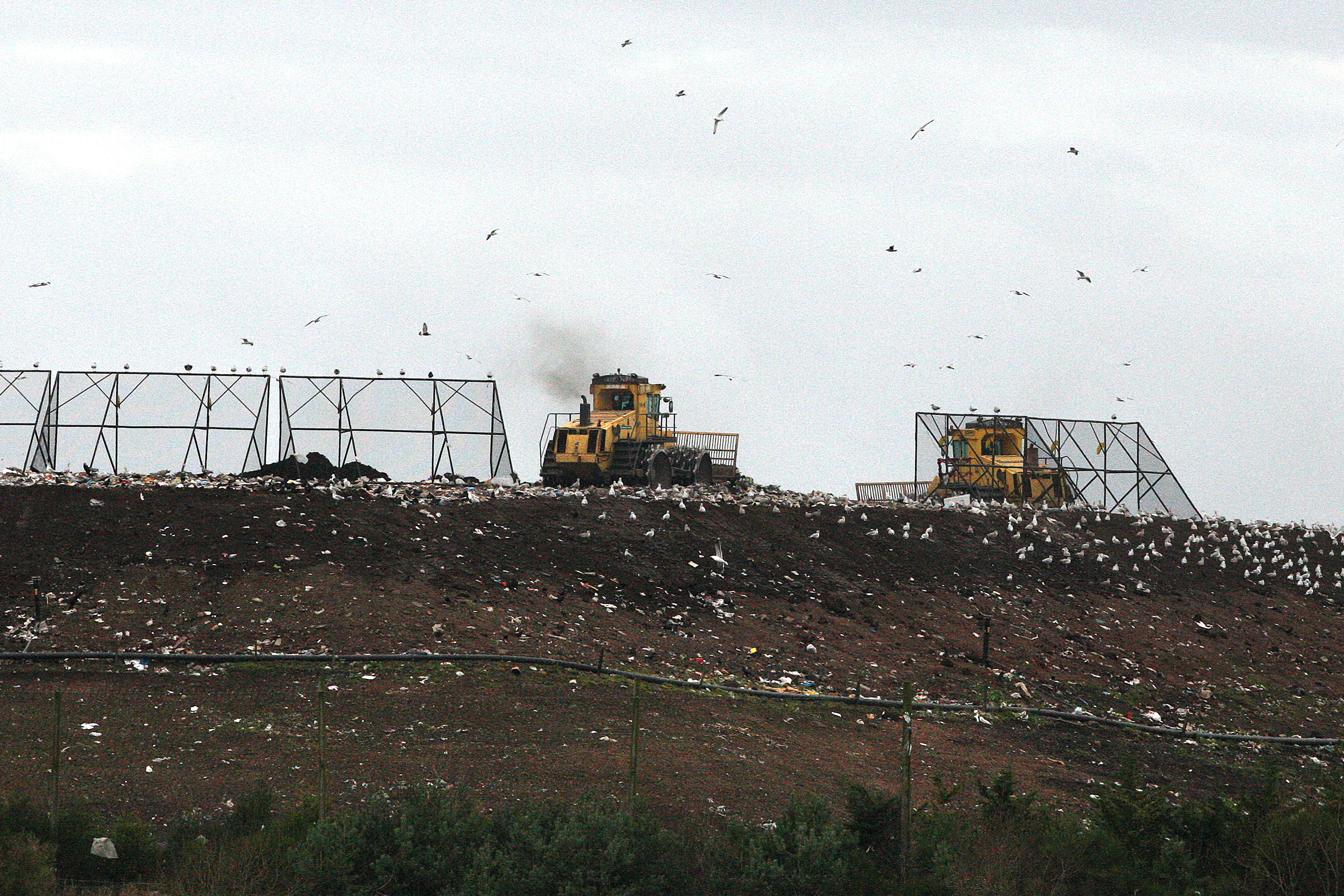 Lower Melville Wood landfill site.