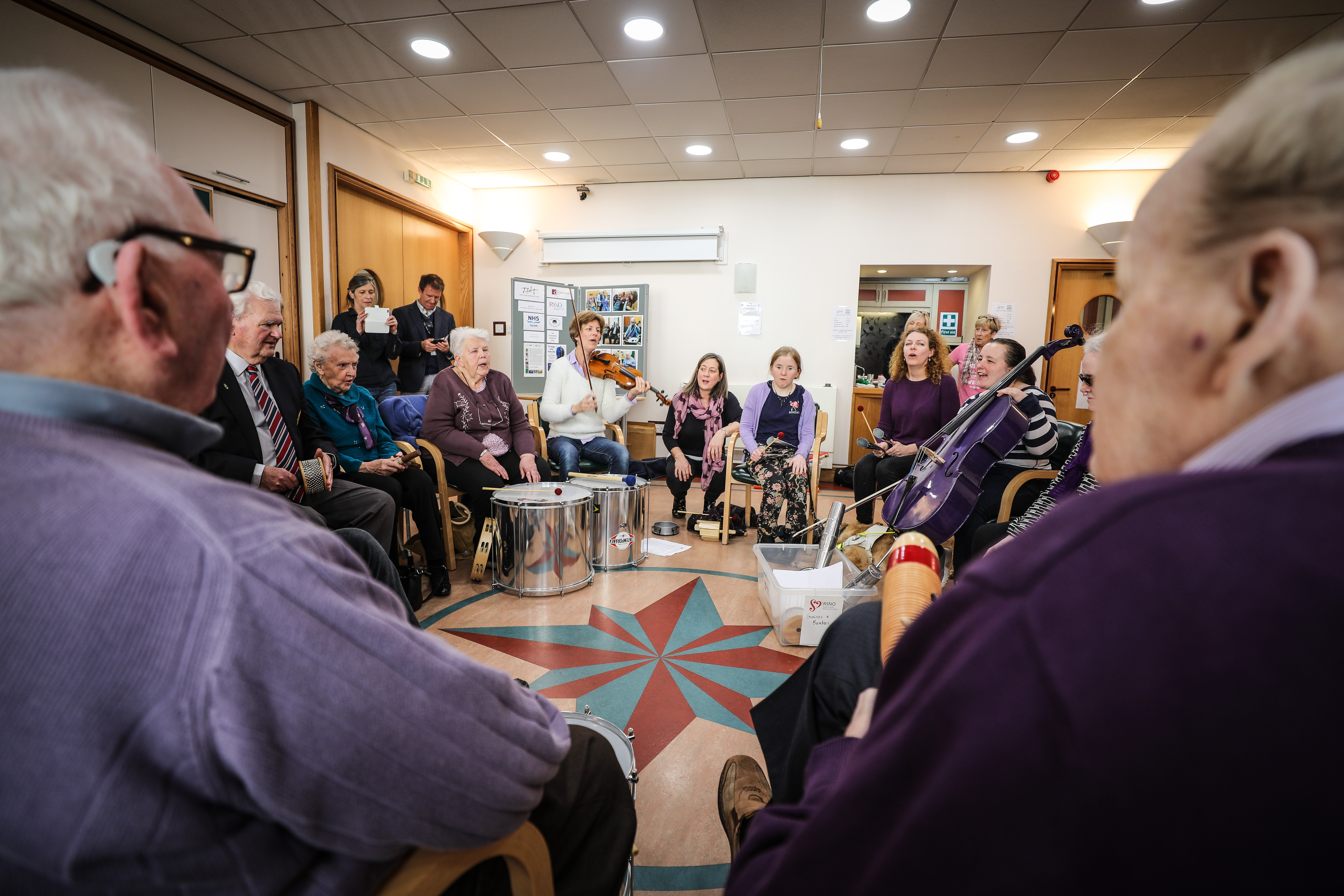 RSNO and participants performing at Dundee Blind and Partially Sighted Society (DBPSS) headquarters in Dundee.