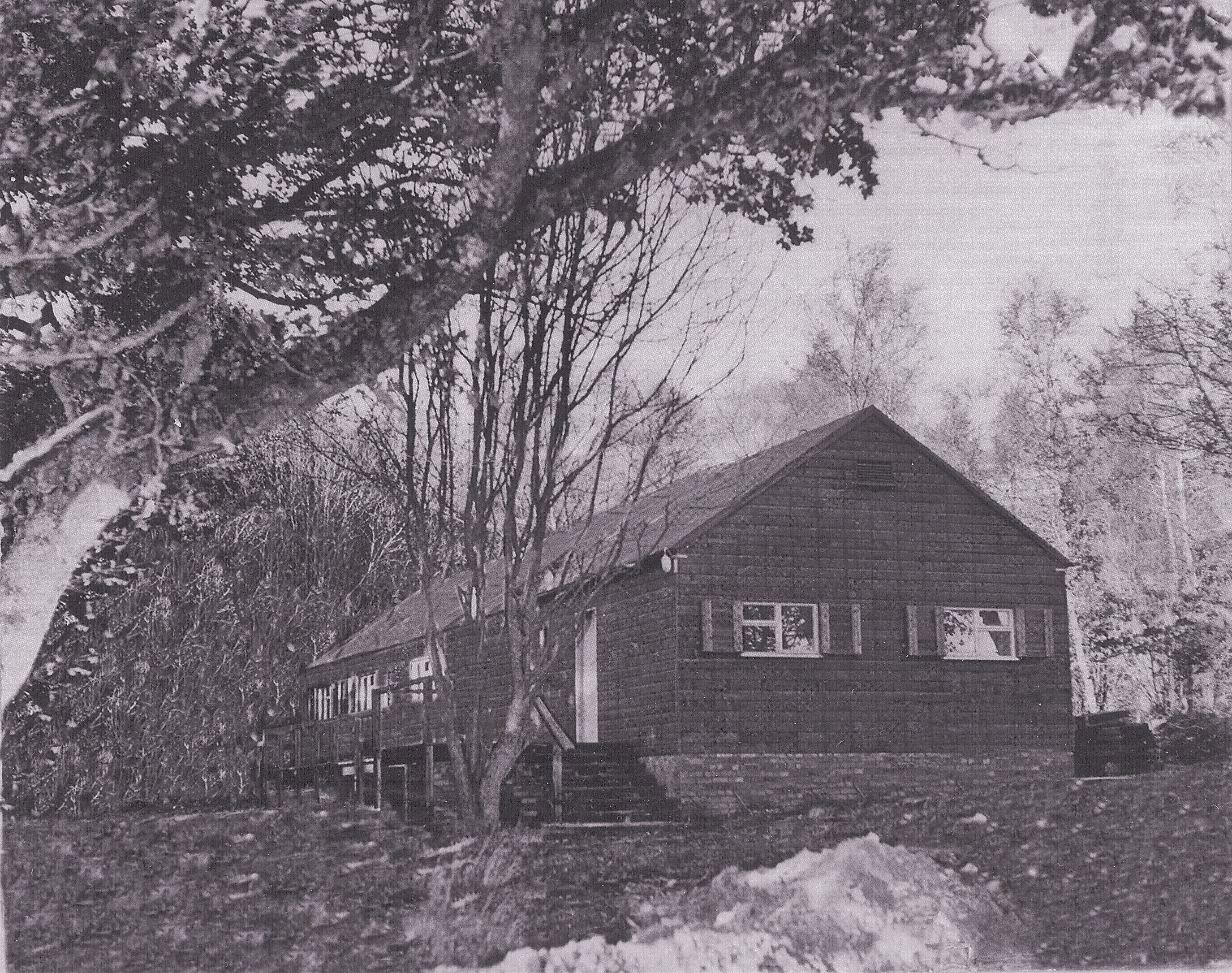 Ladenford hut shortly after it was constructed.