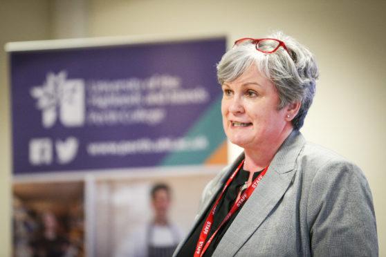 Dr Margaret Cook, Principal of Perth College.