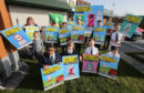 Pupils helped launch the campaign