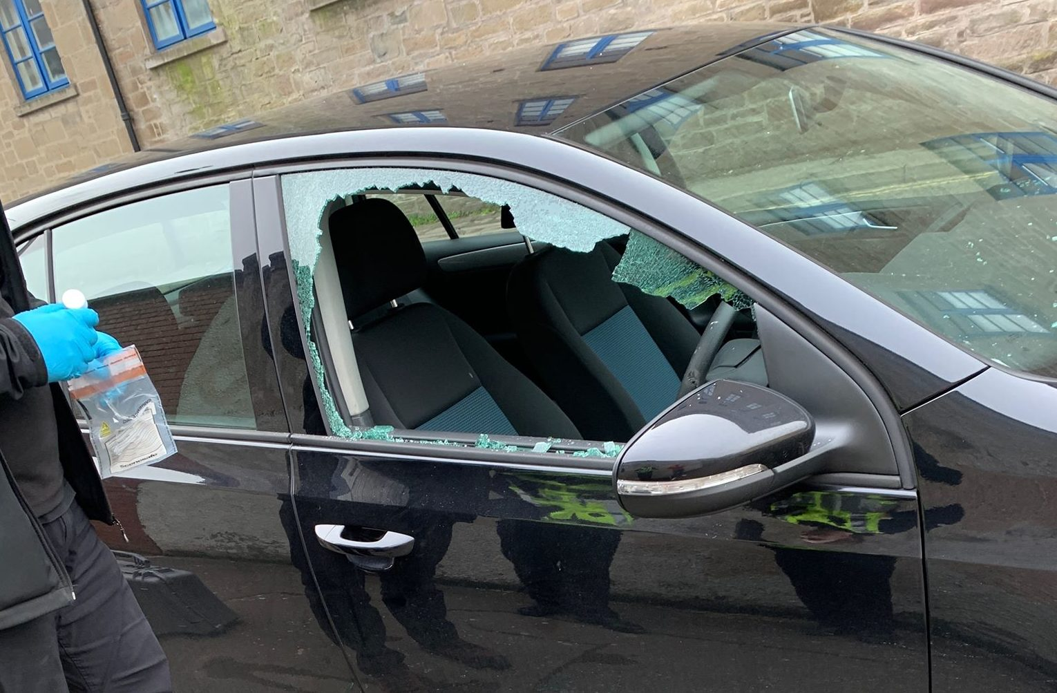 The Volkswagen Golf was broken into on Brown Street on Sunday afternoon