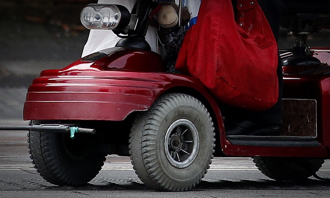 The woman became trapped under her mobility scooter. (stock image)
