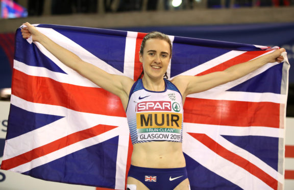 Laura Muir is back in action tonight.