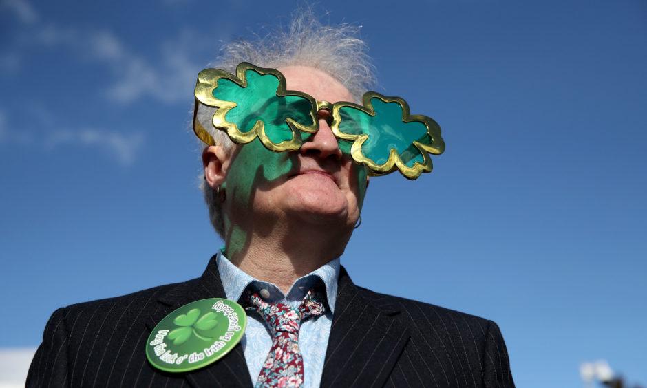 Robert Robinson from Belfast during St Patrick's Thursday of the 2019 Cheltenham Festival.