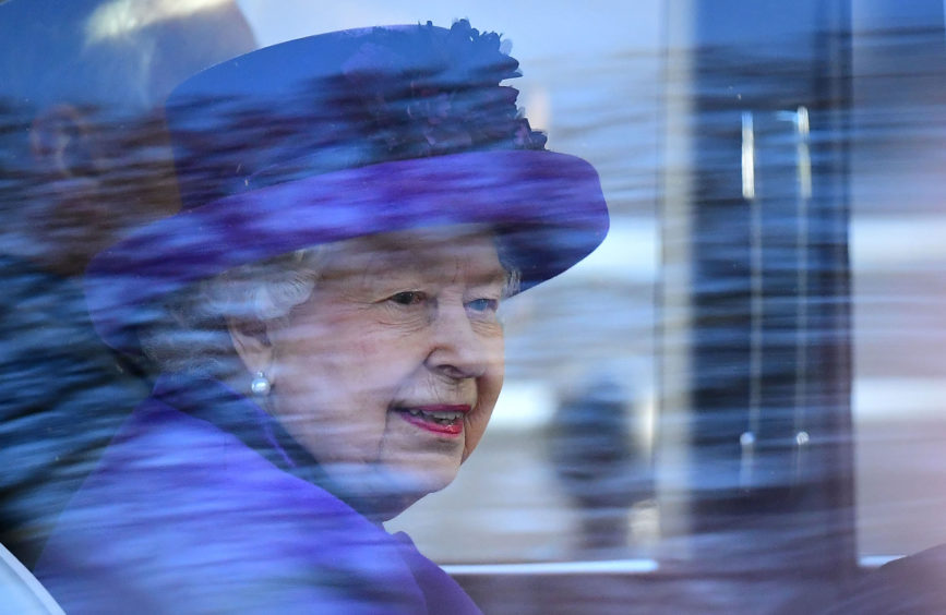 Queen Elizabeth II  leaves after attending the Commonwealth Service at Westminster Abbey,