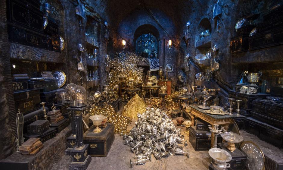 Inside the Lestrange Vault.