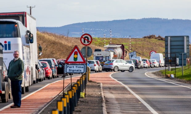 The 2pm crash at Bankfoot brought traffic to a standstill