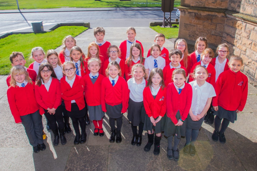 Newhill Junior Choir (Newhill Primary School, Blairgowrie) - they were about to take part in the Choir, Primary 4 & 5 class. St Leonard's in the Fields Church, Marshall Place, Perth.