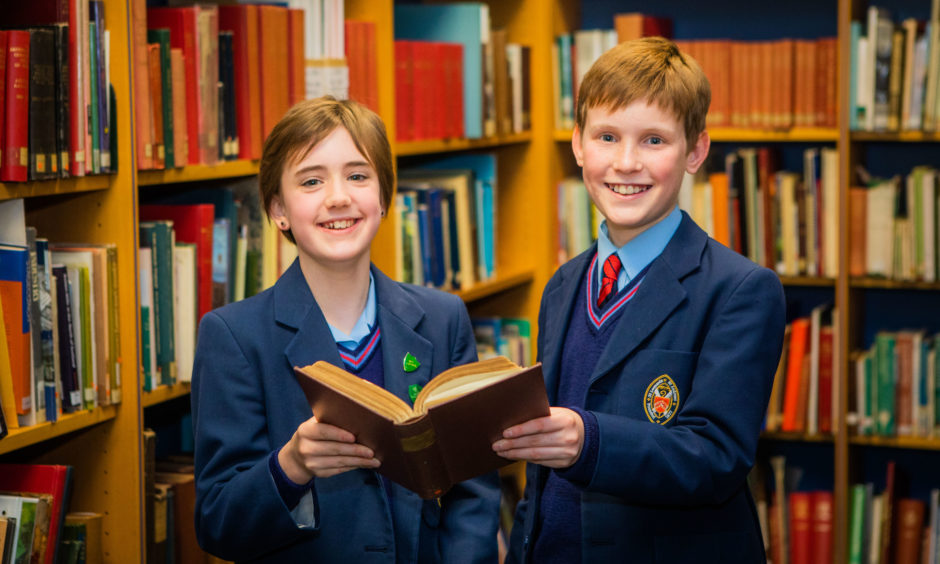 Reading Classes Ruby Richardson (left) and Kyle Stuart (right) both from St Leonards School in St Andrews, were joint 2nd place in the Prepared Reading, aged 11 or 12 (CLASS B)