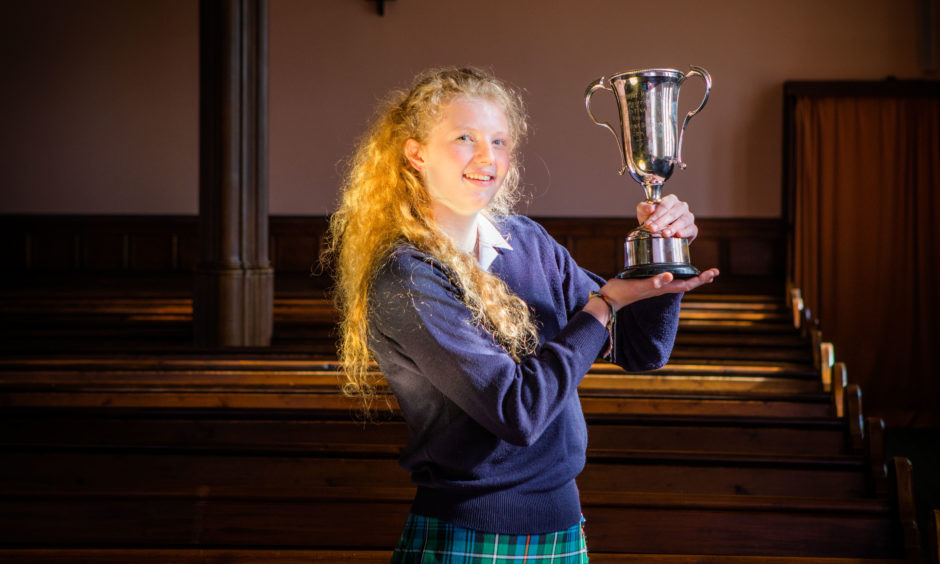 Abigail Strickland (Glenalmond College), winner of The Christine Donaghy Cup for the Vocal Solo, Girls aged 14 or 15 class. St Leonard's in the Fields Church, Marshall Place, Perth.