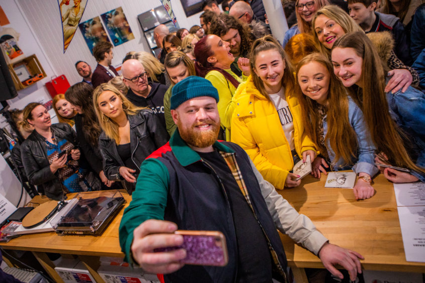 Tom Walker performed at Assai Record store in Broughty Ferry on Saturday. Photos: Steve MacDougall