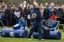 Scotland head coach Gregor Townsend at yesterday's public session at Wallace High in Stirling.