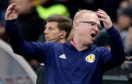 The Scotland manager Alex McLeish during game with Kazakhstan.