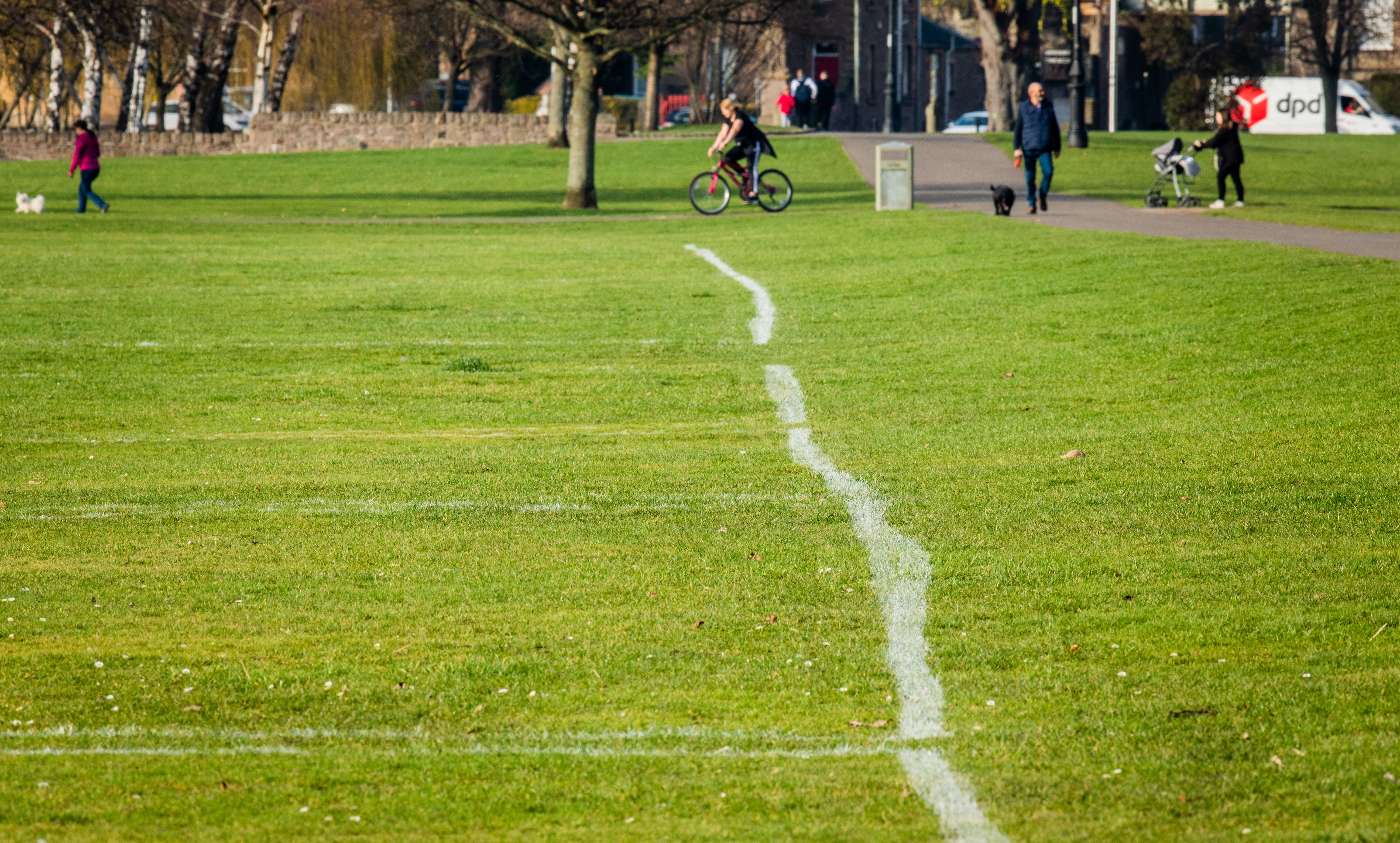 """The """"wonky"""" pitch lines at South Inch"""