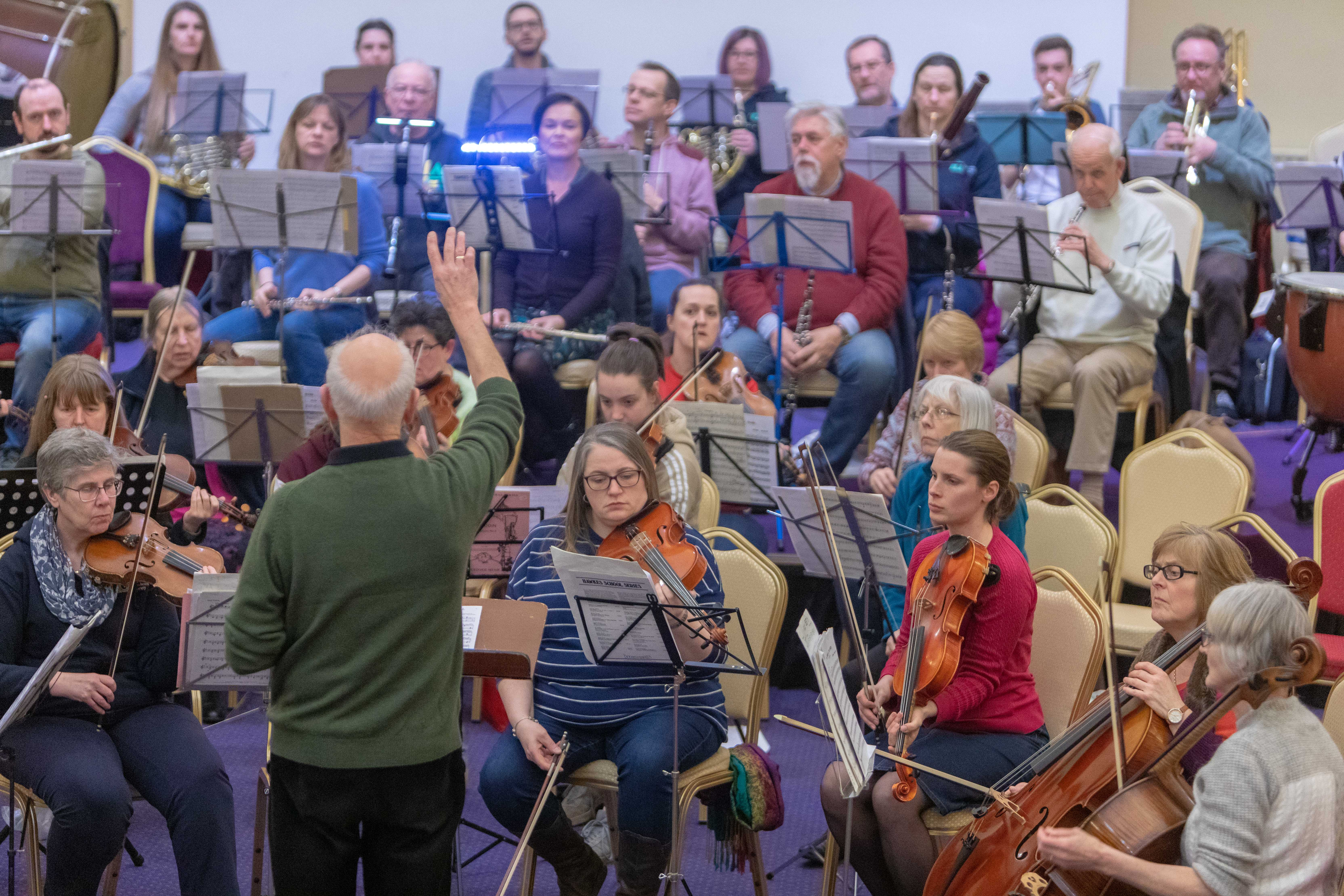 Kirkcaldy Orchestra at practice prior to shows this month.