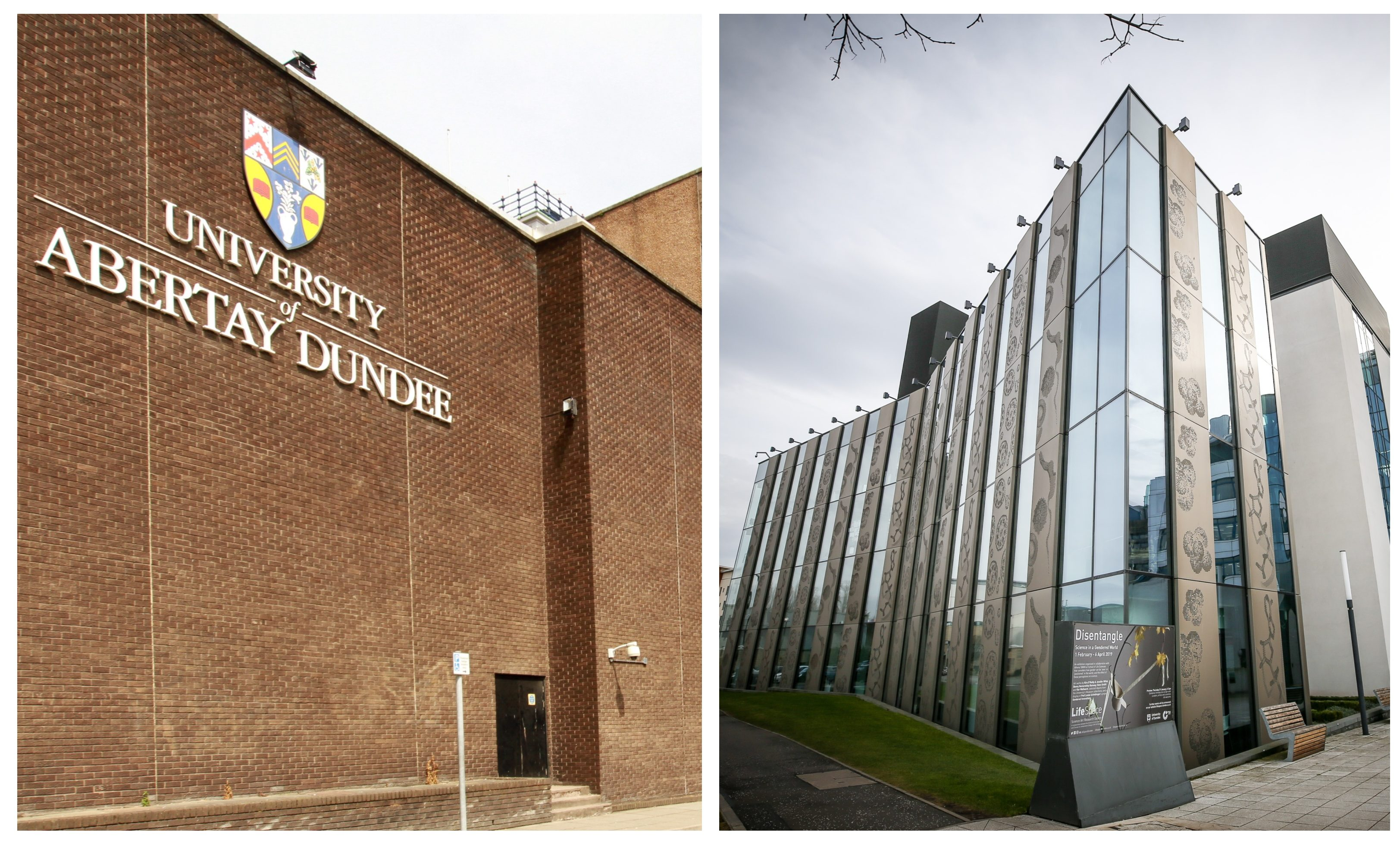 Abertay and Dundee universities.