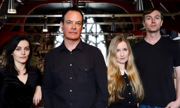 The Wedding Present with David Gedge, second left.