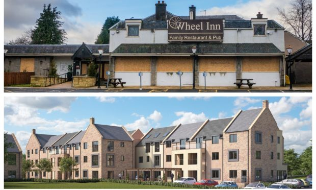 The Wheel Inn/artists' impressions of how the site will look under the plans.