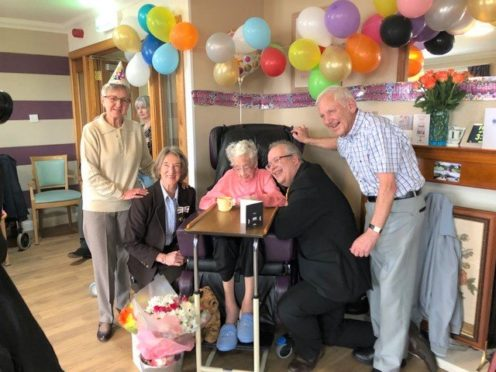 Isabella had a family party this year after the Beast from the East curtailed her 100th birthday celebrations last year