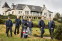 Veterans taking part in Caddie school at the Duke's Course by St Andrews in 2019